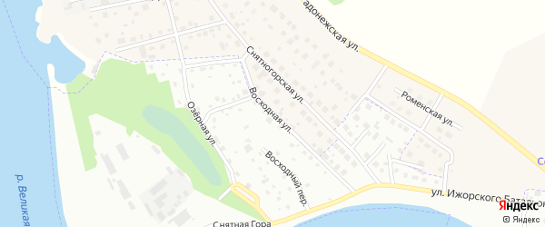 Восходная улица на карте Пскова с номерами домов