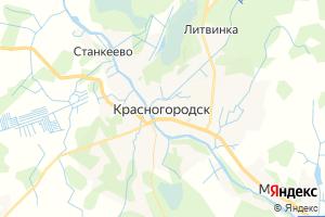 Карта пос. Красногородск Псковская область