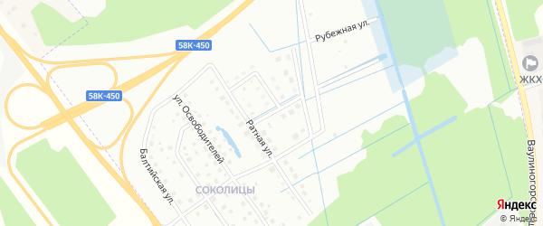 Улица Капитана Руднева на карте Пскова с номерами домов