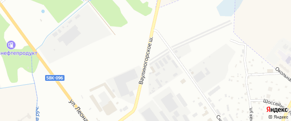 Ваулиногорское шоссе на карте Пскова с номерами домов