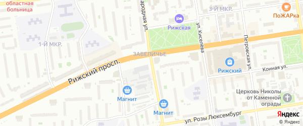 Народная улица на карте Пскова с номерами домов