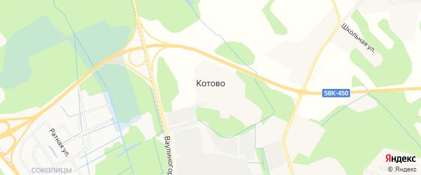 Карта деревни Котово города Пскова в Псковской области с улицами и номерами домов