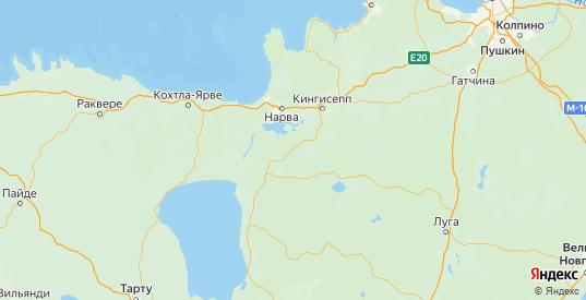 Карта Сланцевского района Ленинградской области с городами и населенными пунктами