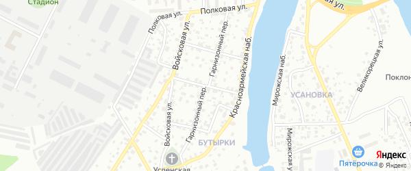 Пролетарский переулок на карте Пскова с номерами домов