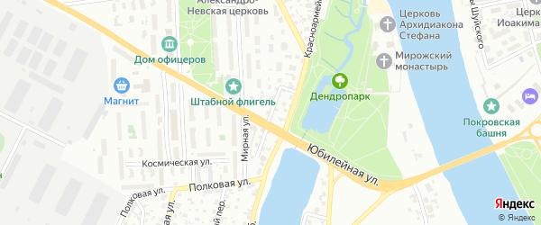 2-я Полковая улица на карте Пскова с номерами домов