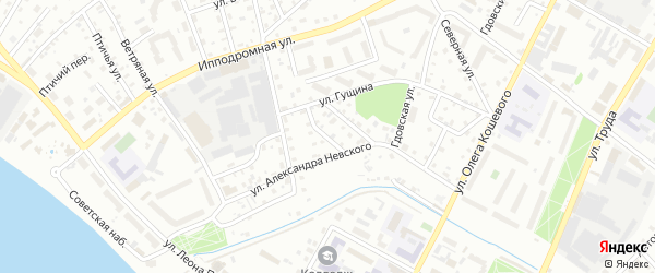 Совхозный переулок на карте Пскова с номерами домов