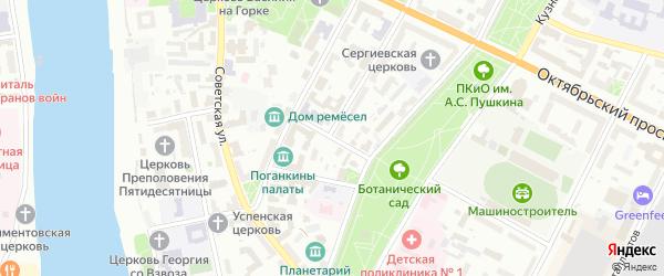 Комсомольский переулок на карте Пскова с номерами домов