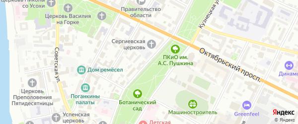 Улица Свердлова на карте Пскова с номерами домов