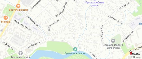 Исторический переулок на карте Пскова с номерами домов