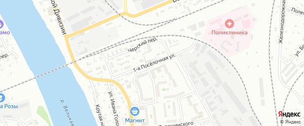 Поселочная 2-я улица на карте Пскова с номерами домов