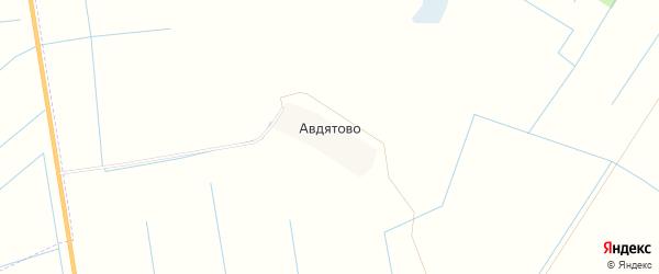 Карта деревни Авдятово в Псковской области с улицами и номерами домов