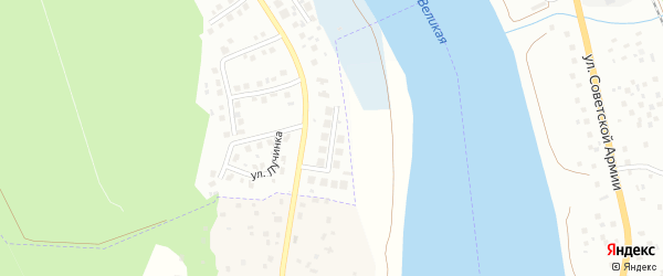 Улица Гоголевский Спуск на карте Пскова с номерами домов