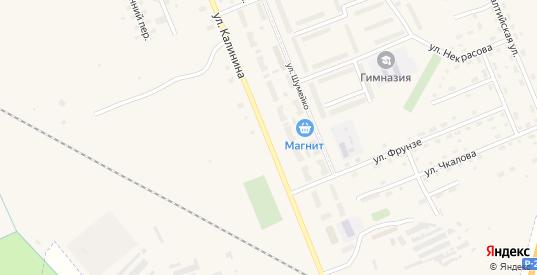 Улица Калинина в Острове с номерами домов на карте. Спутник и схема онлайн