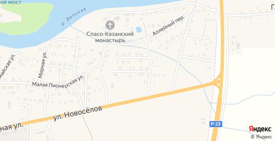 Симанский 2-й переулок в Острове с номерами домов на карте. Спутник и схема онлайн