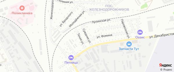 Средняя улица на карте Пскова с номерами домов