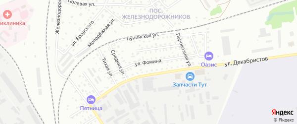 Улица Фомина на карте Пскова с номерами домов