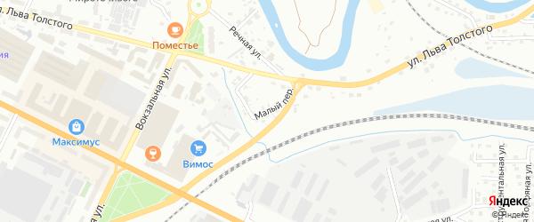 Малый переулок на карте Пскова с номерами домов