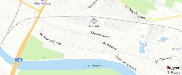 Улица Фрунзе на карте Пскова с номерами домов