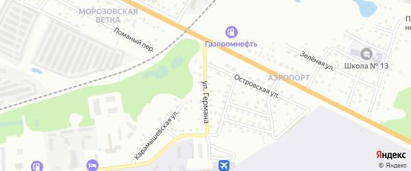 Улица Германа на карте Пскова с номерами домов