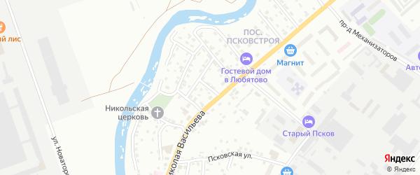 Партизанский переулок на карте Пскова с номерами домов