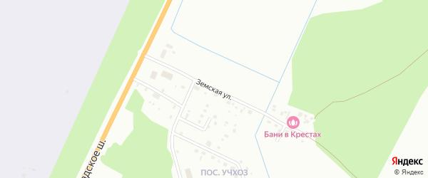 Земская улица на карте Пскова с номерами домов