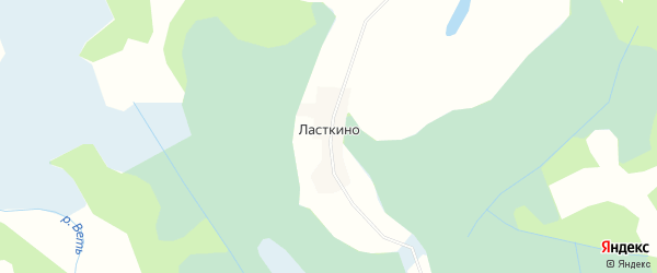 Карта деревни Ласткино в Псковской области с улицами и номерами домов