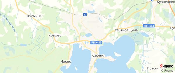 Карта Себежа с районами, улицами и номерами домов