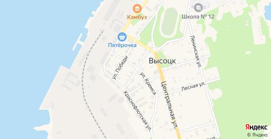 Офицерская улица в Высоцке с номерами домов на карте. Спутник и схема онлайн