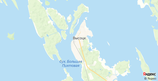 Карта Высоцка с улицами и домами подробная. Показать со спутника номера домов онлайн
