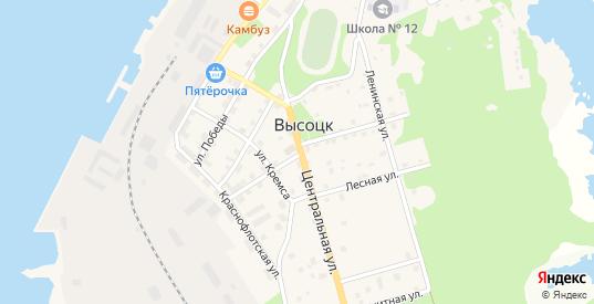 Пихтовая улица в Высоцке с номерами домов на карте. Спутник и схема онлайн