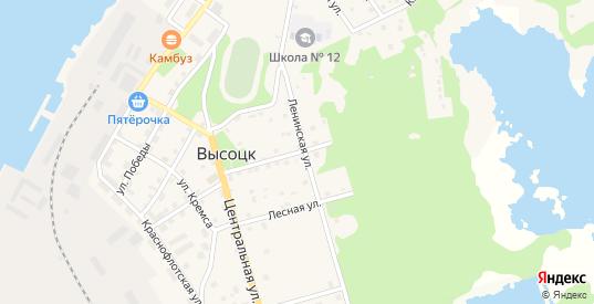 Советская улица в Высоцке с номерами домов на карте. Спутник и схема онлайн