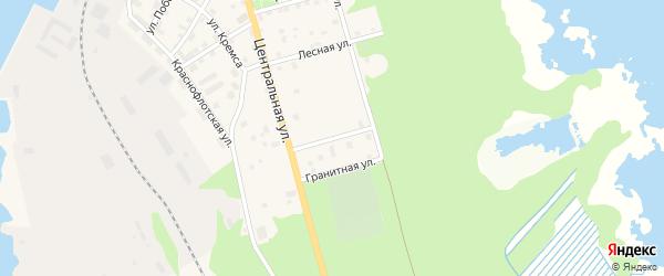 Сосновая улица на карте Толоконниковская территории Ленинградской области с номерами домов