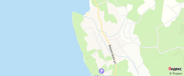 Карта поселка Манолы города Приморска в Ленинградской области с улицами и номерами домов