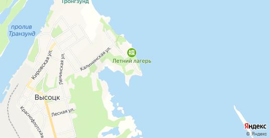 Карта населенного пункта Остров Южный Мыс в Высоцке с улицами, домами и почтовыми отделениями со спутника онлайн