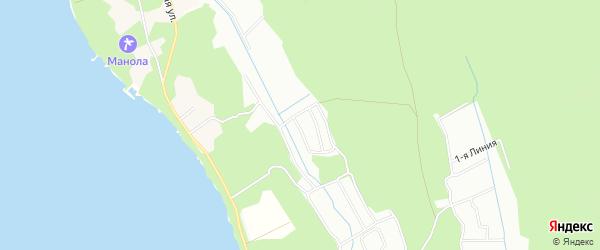Карта поселка СТ Вишенки-1 города Приморска в Ленинградской области с улицами и номерами домов