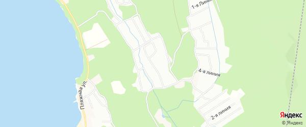 Карта поселка СТ Ручейка города Приморска в Ленинградской области с улицами и номерами домов