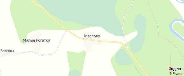 Карта деревни Маслова в Псковской области с улицами и номерами домов