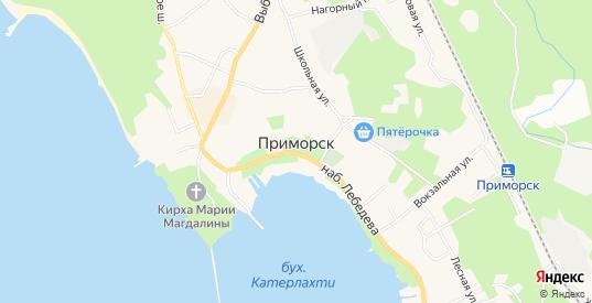Карта поселка СТ Белый Камень в Приморске с улицами, домами и почтовыми отделениями со спутника онлайн