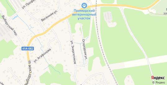 Огородная улица в Приморске с номерами домов на карте. Спутник и схема онлайн