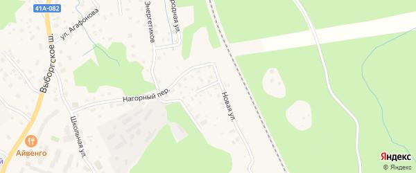 Кольцевая улица на карте Приморска с номерами домов