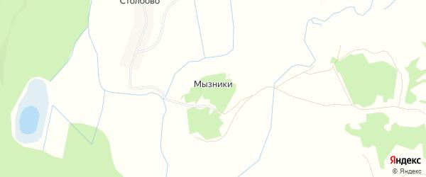 Карта деревни Мызников в Псковской области с улицами и номерами домов