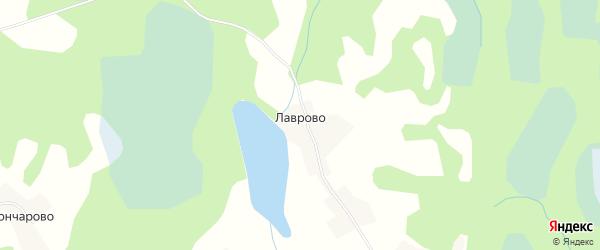 Карта деревни Лаврово в Псковской области с улицами и номерами домов