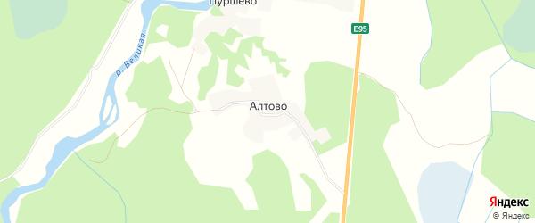 Карта деревни Алтово в Псковской области с улицами и номерами домов