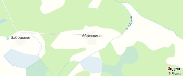 Карта деревни Абрюшино в Псковской области с улицами и номерами домов