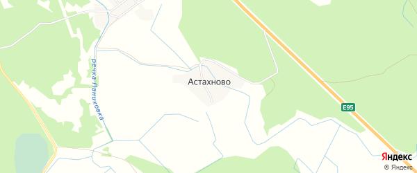 Карта деревни Астахново в Псковской области с улицами и номерами домов