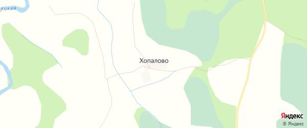 Карта деревни Хопалово в Псковской области с улицами и номерами домов