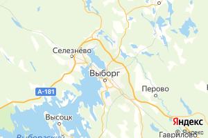 Карта г. Выборг Ленинградская область