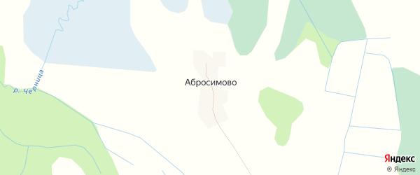 Карта деревни Абросимово в Псковской области с улицами и номерами домов