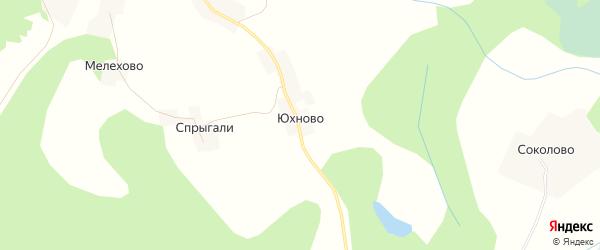 Карта деревни Юхново в Псковской области с улицами и номерами домов