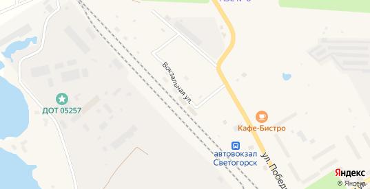 Вокзальная улица в Светогорске с номерами домов на карте. Спутник и схема онлайн